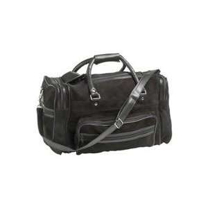 (A) BLACK SUEDE LEATHER TOTE BAG Home & Kitchen