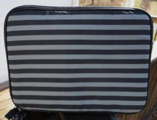 SIMPSON BLACK GRAY HOUNDSTOOTH TRAVEL LUGGAGE TOTE W/LAPTOP BAG