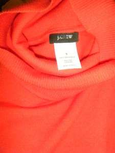 Crew turtleneck merino wool blend sweater long sleeve S vibrant