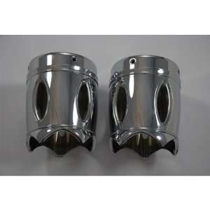 Reverse Cut 3.5 Chrome Exhaust Tips for Harley with Rinehart Exhausts
