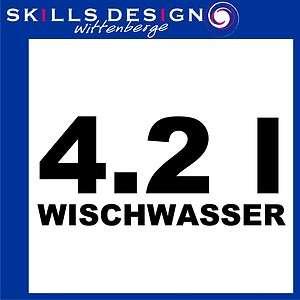 WISCHWASSER Aufkleber Autoaufkleber Sticker FUN Shocker