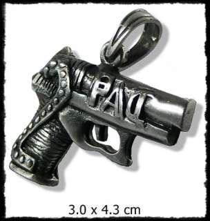 SA248 Hip Hop Metal Gangster Pistole Anhänger Gun Kette