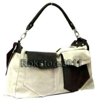 Mens Canvas Satchel Schoolbag Shoulder Bag Totes Purse Bookbag