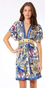 Hale Bob Silk Jersey Kimono Dress L 10 12 UK 14 16 NWT RARE Paisley