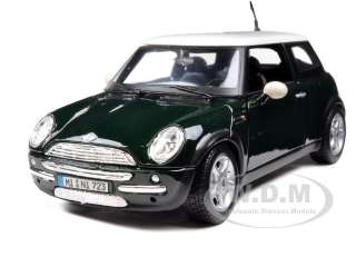 MINI COOPER GREEN 124 DIECAST MODEL CAR BY MAISTO 31219