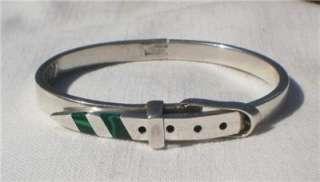 Vintage MEXICO Sterling Silver Buckle Belt BRACELET
