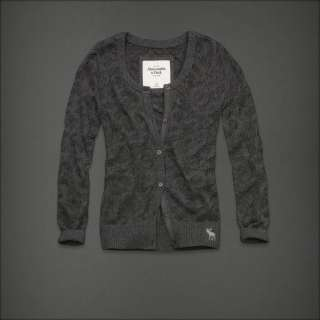 Authentic NWT Abercrombie & Fitch Women Meg Sweater Cardigan shirt Top