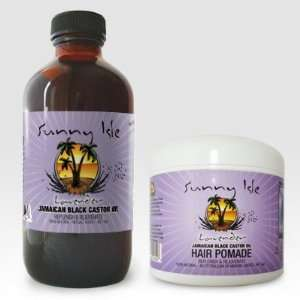 Jamaican Black Castor Oil 8oz. and Lavender Hair Pomade 4 oz.: Beauty