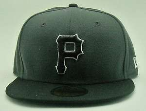 ERA PITTSBURGH PIRATES 5950 TWO TONE CAP CUSTOM HAT FITTED BLACK GREY