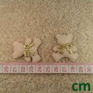 60 Beige Teddy Bear Bow Tie Applique Kid Party Craft Favor Decoration