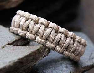 550 Paracord Survival Bracelet   Coyote Tan
