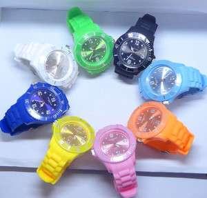 PC 8 Colors Silicone Plastic Jelly Candy Quartz Watch Fashion