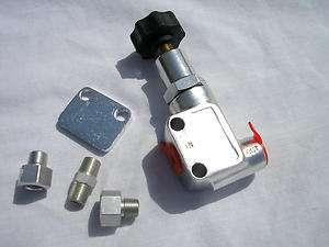 Adjustable In Line Brake Proportioning Valve disc drum street rat rod
