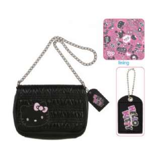 Hello Kitty Shoulder Bag/Purse/Handbag Black Sweets
