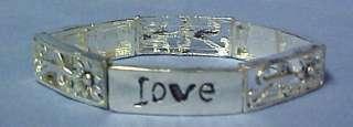 Cancer Awareness Faith Hope Love Floral Bracelet NWT FH