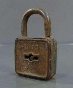 1900s ANTIQUE CAST IRON JAIL DOOR CABINET LOCK PADLOCK