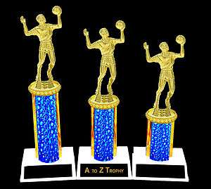 VOLLEYBALL TROPHIES 1st 2nd 3rd PLACE FEMALE or MALE TOURNAMENT TROPHY