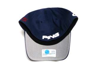 NEW PING GOLF G15 NAVY BLUE FLEX FIT TOUR ISSUE HAT