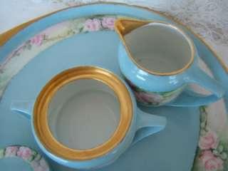 1910 Rosenthal Chocolate Demitasse Pot Set. w Creamer, Sugar, Cups