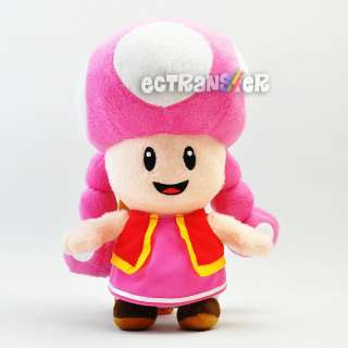 12 Super Mario TOADETTE Figure Plush Toy New/MY264