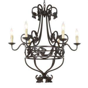 Hampton Bay 6 Light Hanging Oil Rubbed Bronze Chandelier  DISCONTINUED