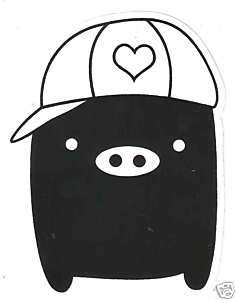 Monokuro Boo Vinyl Sticker Decal ~ San X Black Pig Cap