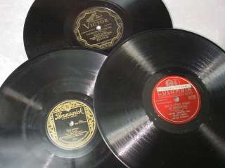 Lot 14 Victrola 78 RPM 10 Records BIG BAND ORCHESTRA Waltz Style
