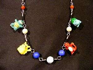 Ash Ketchum Pokemon Charm Pendant Necklace Pikachu Squirtle Charmander