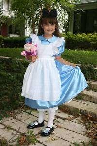 Sparkly SATIN Alice in WONDERLAND Costume/Dress