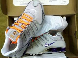 NIKE SHOX NZ TECH GREY / WHITE RUNNING SHOE WMNS SIZE