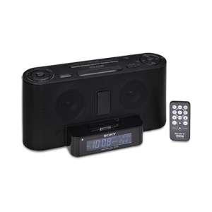 Sony Speaker Dock / Clock Radio for iPod   Black (Open Box) at