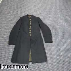 MILITARY ARMY OFFICERS DRESS FROCK COAT UNIFORM NAMED BRASS BUTTONS