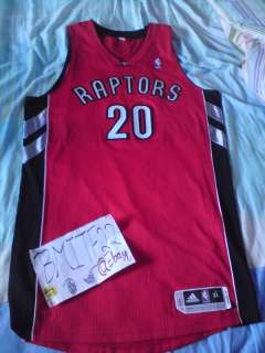 Leandro Barbosa Adidas R30 Toronto Raptors Away Authentic Jersey XL