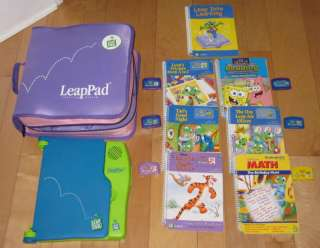 Leap Pad Frog Learning System Pink/Purple Case 7 Books