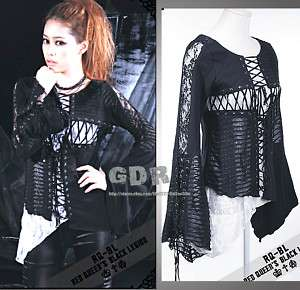 PUNK VISUAL KEI GOTHIC 21102 LACE VEST +OUTER SHIRT M L