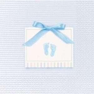 kleine Servietten BABY SOFT blau 16er Pack, Tischdeko Taufe