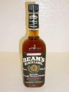 BEAMS BLACK LABEL JIM BEAM KENTUCKY STRAIGHT BOURBON WHISKEY AGED 8