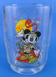 2000 Disney Animal Kingdom Mickey Mouse Glass Tumbler