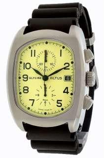 Glycine Altus Chronograph Black Strap Men's Watch 3811.15A