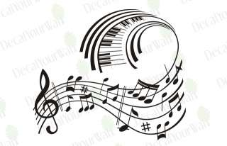 Music Notes Removable Vinyl Wall Decal Sticker Art Deco