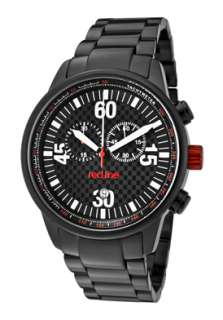 Watch 10125 Mens Tech Chronograph Black Dial Black Ion Plated