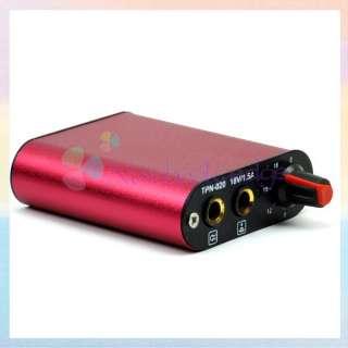 Professional Mini Red Tattoo Power Supply / Box for Machine Gun Kit US