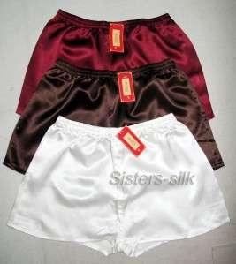 100% Silk Mens Boxer/Shorts S~3XL #SU215 ◆Free p&p