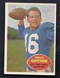 Frank Gifford New York Giants 1960 Topps Card #74