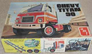 Vintage AMT Chevy Titan 90 Model Kit 1/25 Made in USA