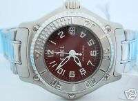 Ebel Womens Discovery Stainless Steel Red Dial 9087321