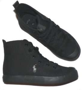 Polo Ralph Lauren Conrad shoes youth boys girls black