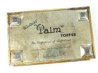 ENGLISH LONDON WALTERS PALM TOFFEE TIN CANDY BIG BOX *