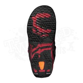 New 2012 Flow Rift Quickfit Mens Snowboard Boots   Black / Red   Size