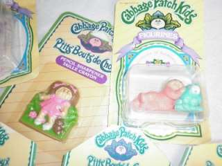1985 Cabbage Patch Kids Figurines, Erasers   Original & Sealed Toy Lot